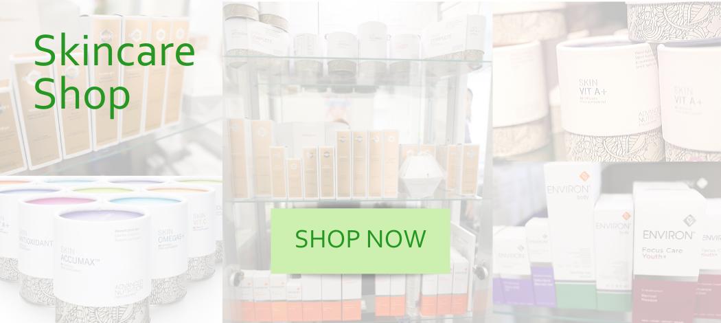 online skincare shop banner