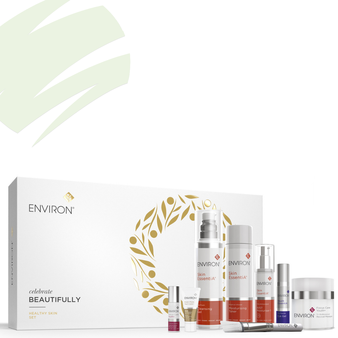 group shot of environ gift set products