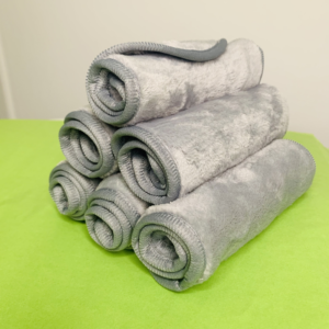 stack of microfibre cloths